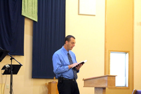Pastor Ron Van Peursem teaching from the Word of God